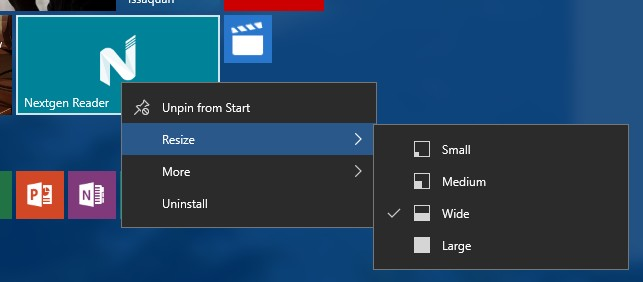 start-context-menus